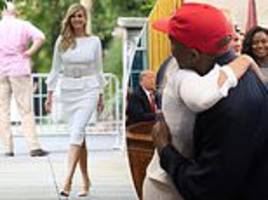 ivanka trump hugs kanye west after his oval office rant