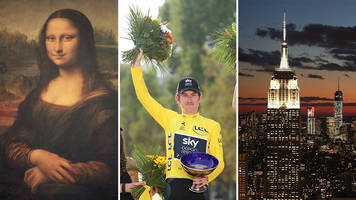 what links geraint thomas, empire state building and mona lisa?