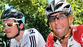 lance armstrong tour de france trophy 'offer' to geraint thomas