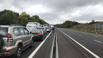 m4 crash: minibus and two lorries in 'serious collision'