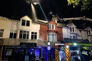 paignton fire: 20 people left homeless tonight