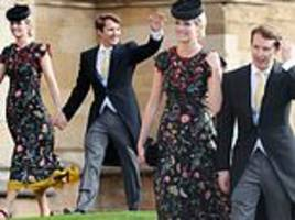 James Blunt and Sofia Wellesley make for a chic couple as they arrive at Princess Eugenie's wedding
