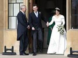 prince andrew hugs his new son-in-law in hilarious reception speech