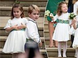 prince george and charlotte star in eugenie's royal wedding