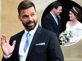 Royal fans left confused after seeing Ricky Martin at Princess Eugenie's royal wedding