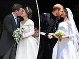 The very different wives of Windsor: How Princess Eugenie's big day compares to Harry and Meghan's
