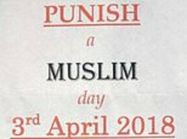 white supremacist who sent out 'punish a muslim day' leaflets faces jail