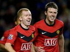 michael carrick names paul scholes as the best player he ever played with
