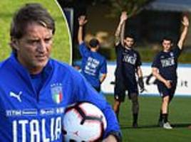 Roberto Mancini puts Italy squad through their paces in Florence ahead of Poland clash