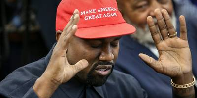 Kanye West gave an impromptu 'keynote' address standing on tables at an Apple store after Trump meeting