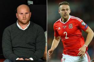 john hartson left red-faced over x-rated slip of the tongue during wales v spain commentary