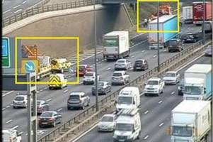 four people were injured on the m25 near the dartford crossing in a three-vehicle crash
