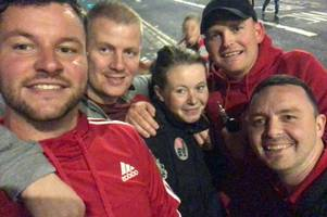 football fans invited a homeless woman to watch wales v spain
