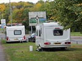 travellers set up caravans just 50 yards from hotel for strictly come dancing stars in hertfordshire