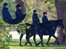 prince andrew is spotted horse riding after eugenie's wedding