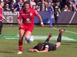 bath 20-22 toulouse: freddie burns squanders clear try after prematurely celebrating