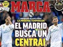 real madrid make signing a new centre back 'a priority for next season'