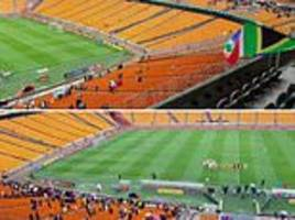 south africa host seychelles in front of empty stadium