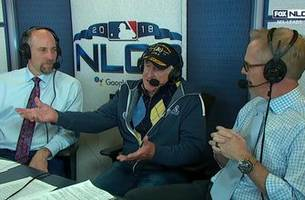 the legendary bob uecker joins the nlcs game 2 broadcast booth, proving dreams do come true