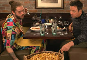 jimmy fallon had never been to olive garden so post malone took him