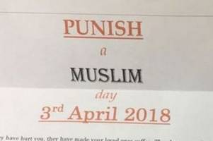 lincoln council worker admits sending 'punish a muslim day' letters