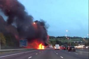 the m2 diversion you need to take to avoid the coach fire near medway