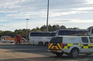 this is why a helicopter landed at stansted airport today