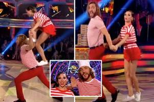 seann walsh gets hands on with katya jones during flirty charleston in touchy-feely return to strictly come dancing