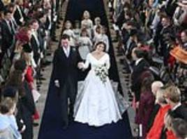 celebrities including robbie williams and naomi campbell use eugenie's royal wedding to plug brands