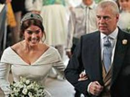 Prince Andrew rejected royal aides' fears over Princess Eugenie's extravagant two-day wedding