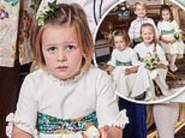 mia tindall takes royal bridesmaid's duties very seriously as prince george shows off cheeky grin