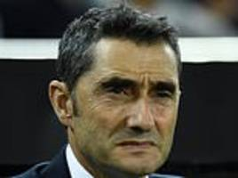 barcelona manager ernesto valverde 'has doubts over future at the nou camp'