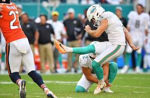 The Dolphins squeak past the Chicago Bears with last-minute OT field goal