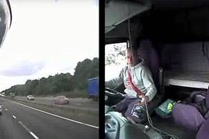 horrifying crash footage shows danger of using mobile while driving