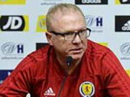 alex mcleish will have a month to rectify scotland's issues or the axe will surely fall...