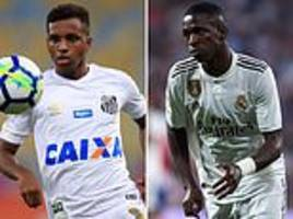 real madrid fans given glimpse of what's to come as vinicius jnr assists rodrygo in brazil u20 clash