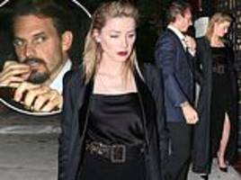 amber heard has sushi date with kristopher brock in beverly hills
