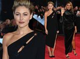 emma willis stuns in all-black ensemble as she joins voice coaches on red carpet