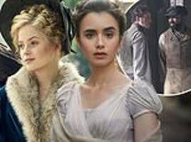 les misérables unveiled: lily collins, ellie bamber and dominic west are seen in character