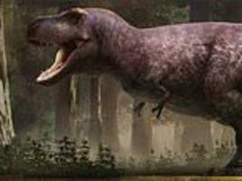 t rex didn't have feathers! king of the dinosaurs had smooth skin and tiny arms, experts say