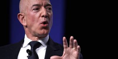 Jeff Bezos attacks Google for refusing US military contracts: 'This is a great country and it does need to be defended' (AMZN, GOOG)