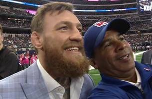 Conor McGregor was at the Cowboys game and says he gave Jerry Jones a very important message