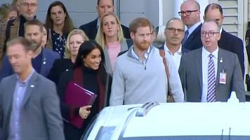 harry and meghan in australia: royals begin first tour since marriage