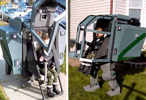Father-Daughter Mech Halloween Costume Is Next-Level Awesome