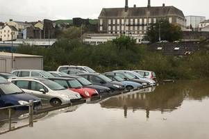 supermarket car park becomes royal mail delivery base in aftermath of storm callum