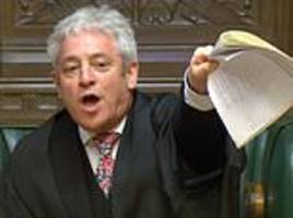 andrew pierce: if john bercow had any honour he'd have left his speaker role already
