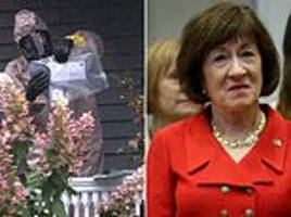fleet of fbi trucks surround susan collins' maine home after suspicious letter was sent