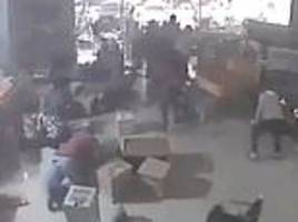 indonesian earthquake cctv footage shows terrified shoppers