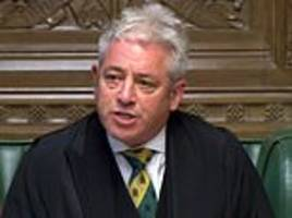 QUENTIN LETTS sees the Speaker John Bercow refuse to budge during bullying in Parliament debate