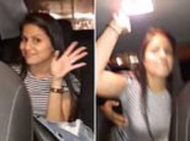 Shocking moment young woman beats an Uber driver in Peru
